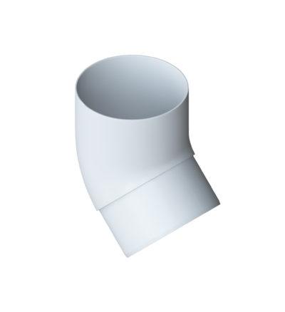 Колено трубы 45° Элит Белое