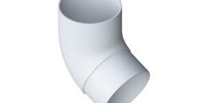 Колено трубы 67° Элит Белое