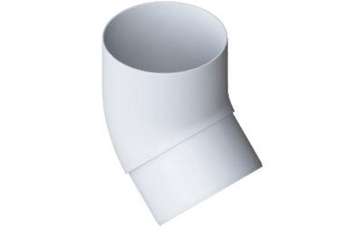 Колено трубы (отвод) 45° Стандарт Белый