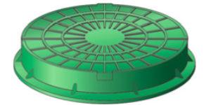 Люк полимерпесчаный ЛД (легкий дачный)