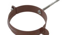 Хомут трубы металлический Стандарт Коричневый