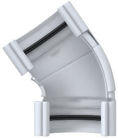 Угол желоба регулируемый Элит (120°-145°) Белый