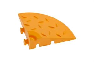 Декоративное уличное покрытие Угловой элемент обрамления, цвет Желтый