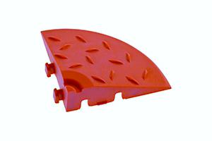 Декоративное уличное покрытие Угловой элемент обрамления, цвет Красный