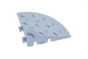 Декоративное уличное покрытие Угловой элемент обрамления, цвет Голубой