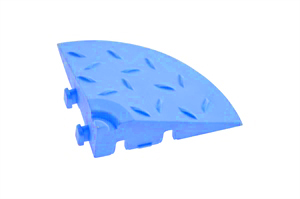 Декоративное уличное покрытие Угловой элемент обрамления, цвет Синий