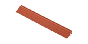 Декоративное уличное покрытие Боковой элемент обрамления с пазами под замки, цвет Коричневый