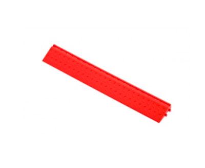 Декоративное уличное покрытие Боковой элемент обрамления с пазами под замки, цвет Красный