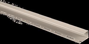 Планка J-trim, Альта-Сайдинг, 3660 мм, цвет Бежевый