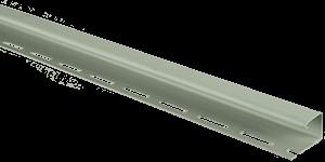 Планка J-trim, Альта-Сайдинг, 3660 мм, цвет Серо-Зеленый