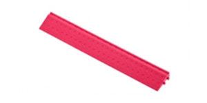 Декоративное уличное покрытие Боковой элемент обрамления с пазами под замки, цвет Розовый