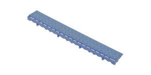 Декоративное уличное покрытие Боковой элемент обрамления с пазами под замки, цвет Синий