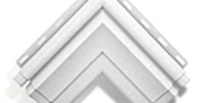 """Угловой элемент наличника """"Модерн"""", Белый"""