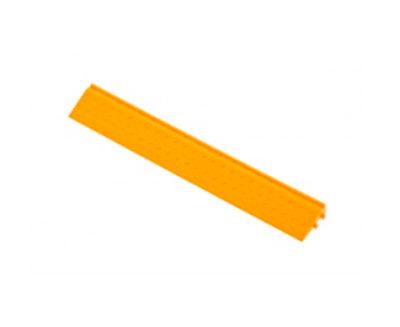 Декоративное уличное покрытие Боковой элемент обрамления с пазами под замки, цвет Желтый