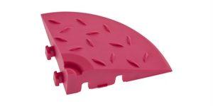 Декоративное уличное покрытие Угловой элемент обрамления, цвет Розовый