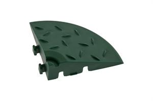 Декоративное уличное покрытие Угловой элемент обрамления, цвет Зеленый