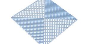 Решетка с дополнительным обрамлением Голубая
