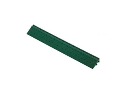 Декоративное уличное покрытие Боковой элемент обрамления с пазами под замки, цвет Зеленый