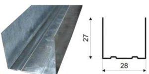 Профиль оцинкованный ППН 3м/0,5мм (28х27)