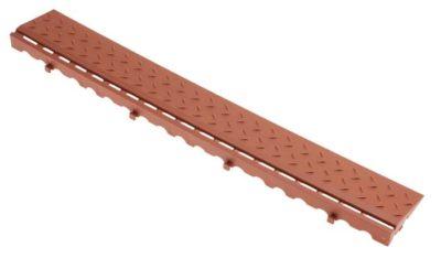Боковой элемент обрамления с замками (коричневый)